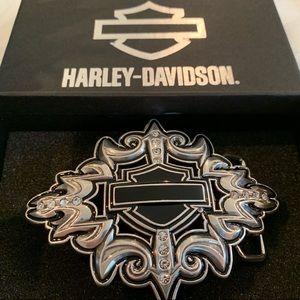 Harley-Davidson Rare 2012 Royal Bar Shield Buckle